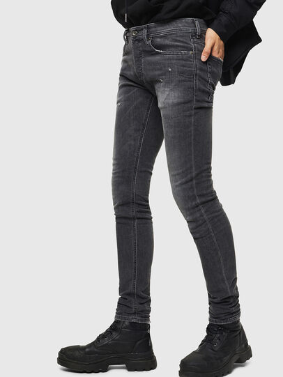 Diesel - Sleenker 069JR, Black/Dark grey - Jeans - Image 4
