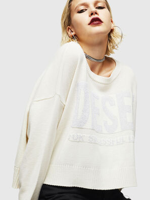 M-LUREXY, White - Knitwear