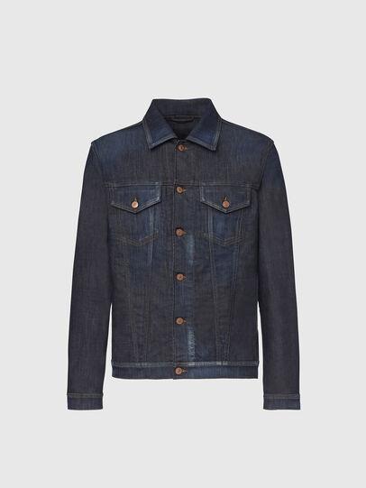 Diesel - NHILL-TW, Dark Blue - Denim Jackets - Image 1