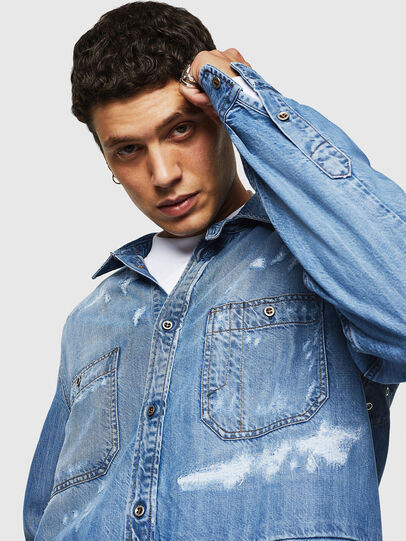 Diesel - D-FRED, Light Blue - Denim Shirts - Image 3