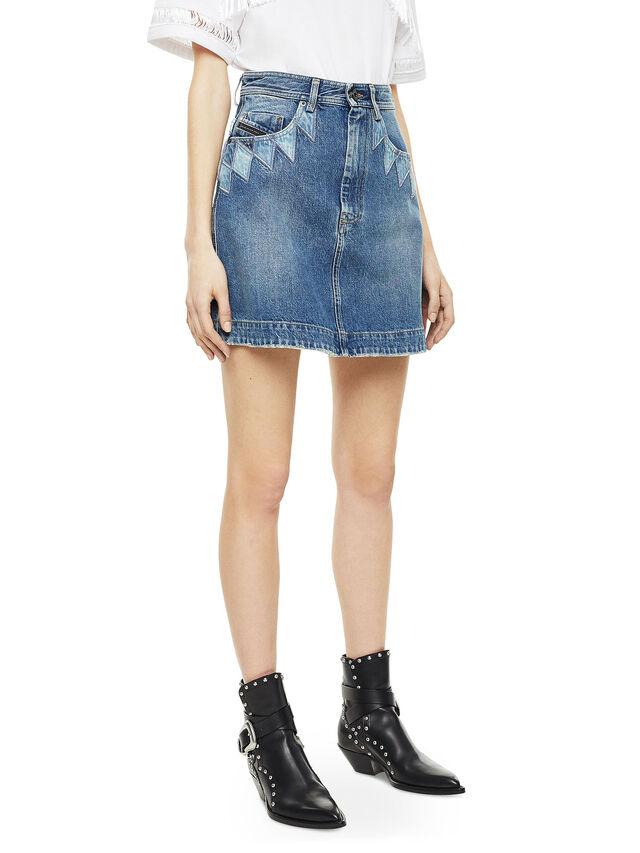 Diesel - OSSANA, Blue Jeans - Skirts - Image 4