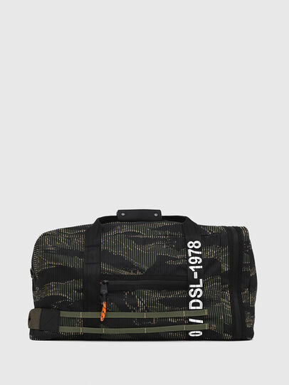 Diesel - M-CAGE DUFFLE M, Black/Green - Travel Bags - Image 1