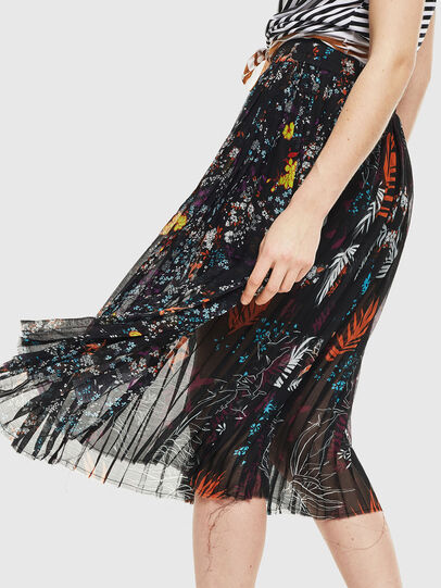 Diesel - O-PLIZ, Black - Skirts - Image 4