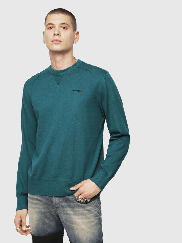 Diesel - K-LAUX, Dark Green - Knitwear - Image 1