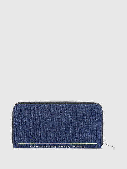 Diesel - 24 ZIP, Blue - Zip-Round Wallets - Image 2
