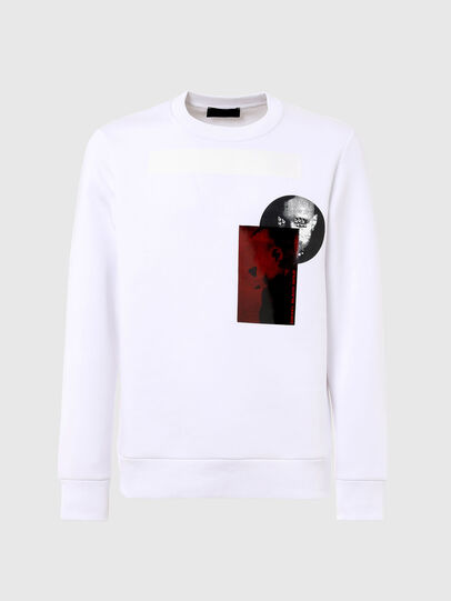 Diesel - S-ARGON-A, White - Sweaters - Image 1