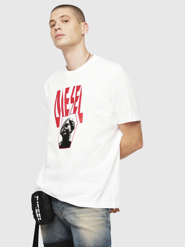 Diesel - T-JUST-YE, White - T-Shirts - Image 1