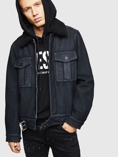 Diesel - W-VLADIMIR, Black - Winter Jackets - Image 4