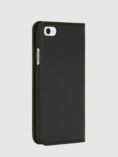 Diesel - SLIM LEATHER FOLIO IPHONE 8/7, Black - Flip covers - Image 4