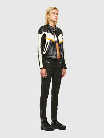 Diesel - ASTARS-LQUATTRO-B, Black - Leather jackets - Image 6