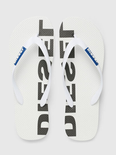 Diesel - SA-BRIIAN, White/Black - Slippers - Image 2