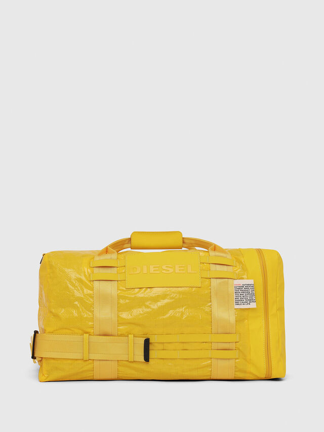 Diesel - M-CAGE DUFFLE M, Yellow - Travel Bags - Image 1