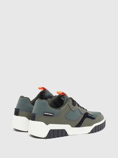 Diesel - S-RUA LOW SK, Olive Green - Sneakers - Image 3