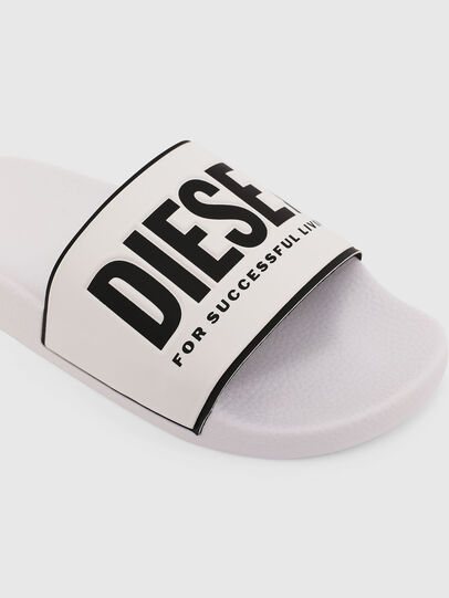 Diesel - SA-VALLA W, White/Black - Slippers - Image 4