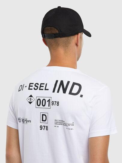 Diesel - T-DIEGOS-N21, White - T-Shirts - Image 4