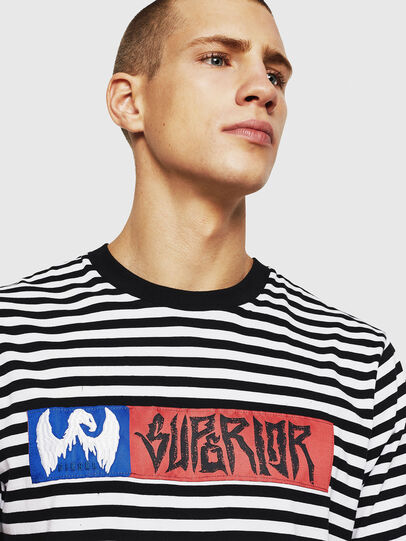 Diesel - T-VIKTOR, Black/White - T-Shirts - Image 3