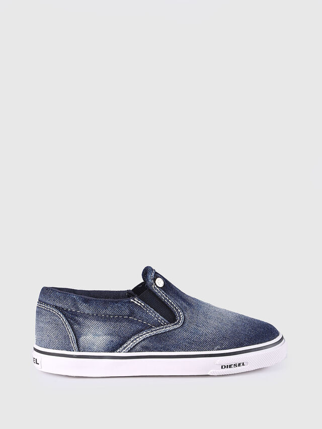Diesel - SLIP ON 21 DENIM CH, Blue Jeans - Footwear - Image 1