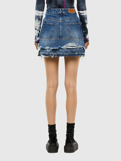 Diesel - DE-JAUME, Medium blue - Skirts - Image 2