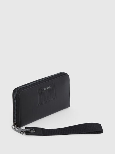 Diesel - 24 ZIP LOOP, Black - Zip-Round Wallets - Image 5