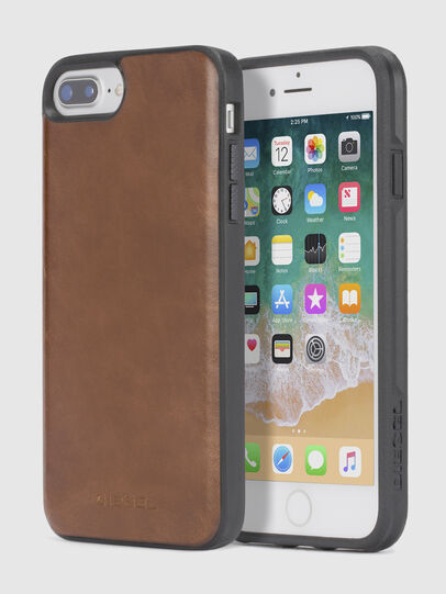 Diesel - BROWN LEATHER IPHONE X CASE, Brown - Cases - Image 1