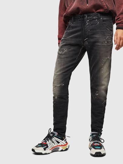 Diesel - Krooley JoggJeans 084AE, Black/Dark grey - Jeans - Image 1