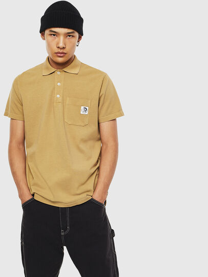 Diesel - T-POLO-WORKY, Beige - Polos - Image 1