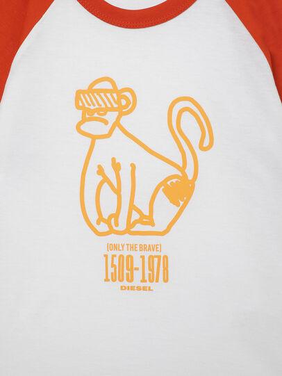 Diesel - TBALYB-R, White/Orange - T-shirts and Tops - Image 3