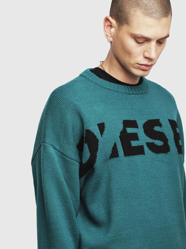 Diesel - K-LOGOX, Dark Green - Knitwear - Image 3