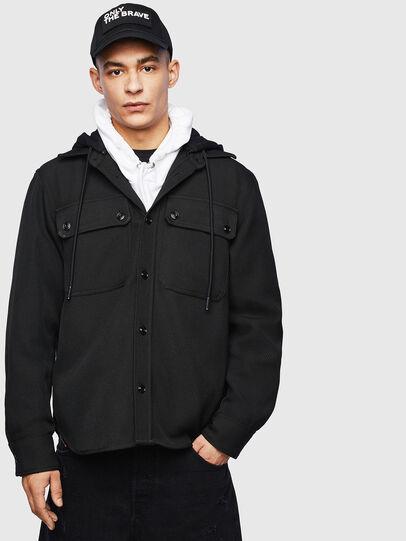 Diesel - J-JESSY-HOOD, Black - Jackets - Image 1
