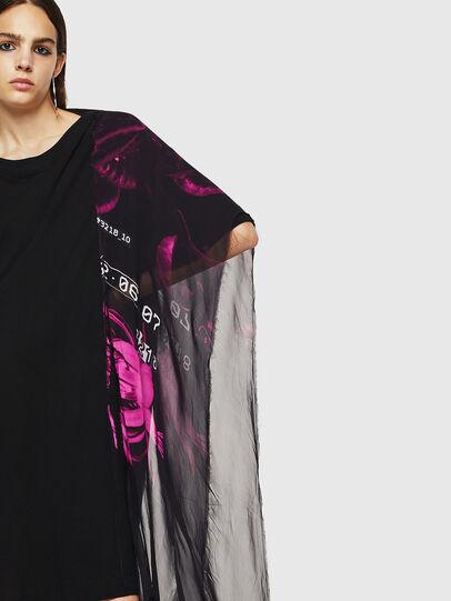 Diesel - T-STEFANIA, Black - T-Shirts - Image 3
