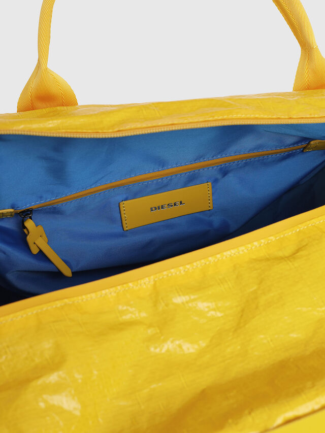 Diesel - M-CAGE DUFFLE M, Yellow - Travel Bags - Image 4
