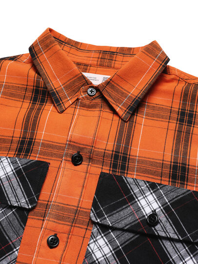 Diesel - D-ANORACHECK, Orange - Shirts - Image 3