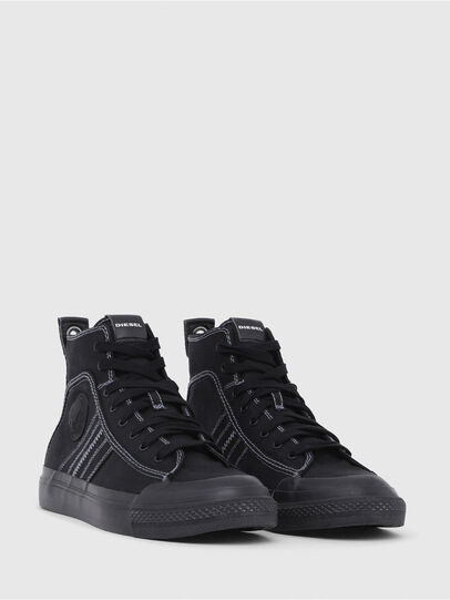 Diesel - S-ASTICO MID LACE, Black - Sneakers - Image 2