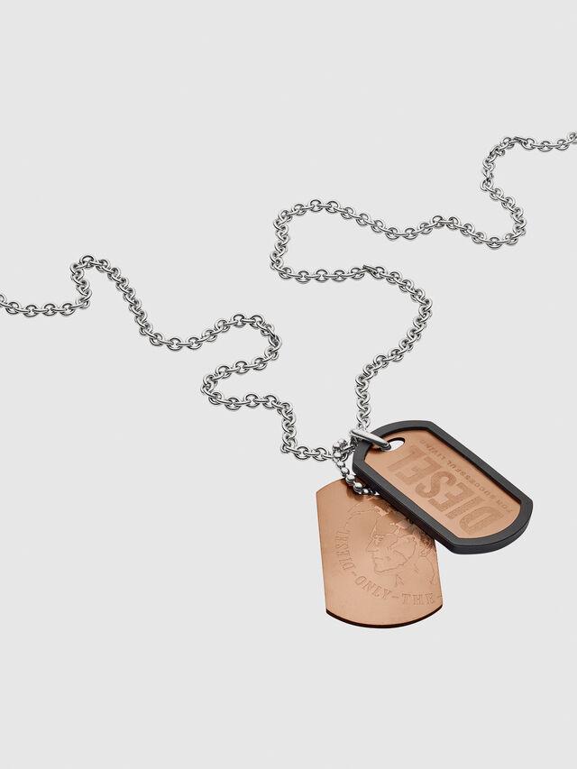 Diesel NECKLACE DX1096, Bronze - Necklaces - Image 2