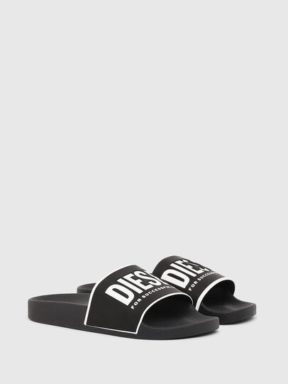 Diesel - SA-VALLA W, Black/White - Slippers - Image 2
