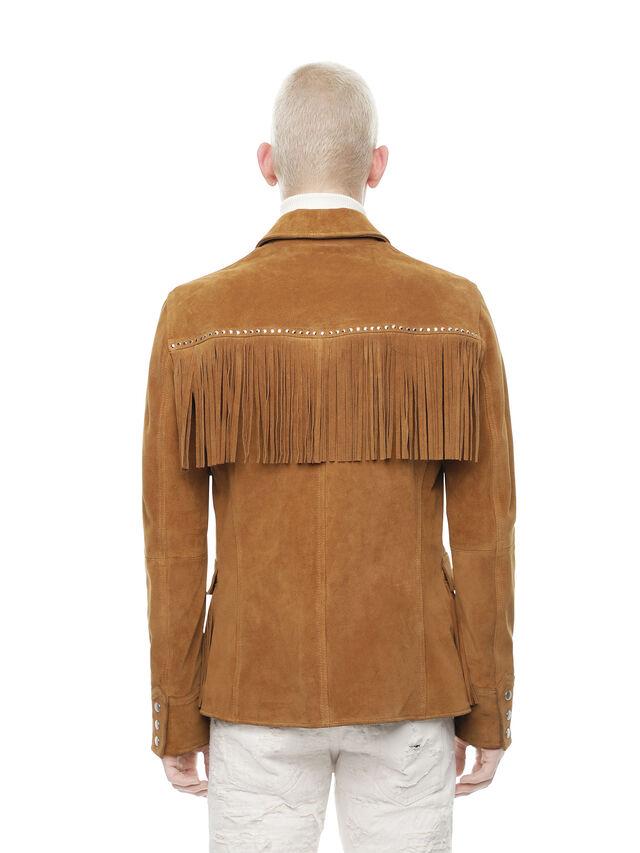 Diesel - LEOS, Brown/Beige - Leather jackets - Image 2