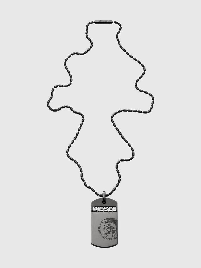 Diesel - DX0004, Black - Necklaces - Image 1
