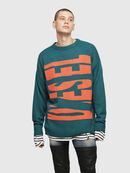 K-LOGOX-A, Dark Green - Knitwear