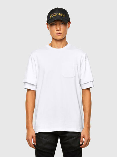 Diesel - T-FONTAL, White - T-Shirts - Image 1