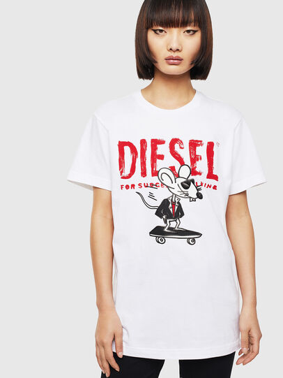 Diesel - CL-T-DIEGO-1, White - T-Shirts - Image 2