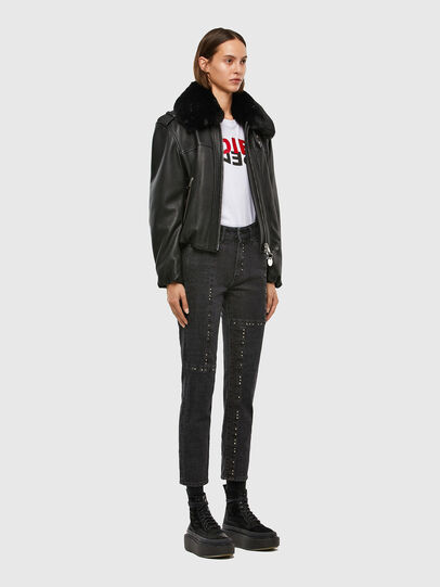 Diesel - L-LIV, Black - Leather jackets - Image 6
