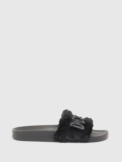 Diesel - SA-VALLA R W, Black - Slippers - Image 1