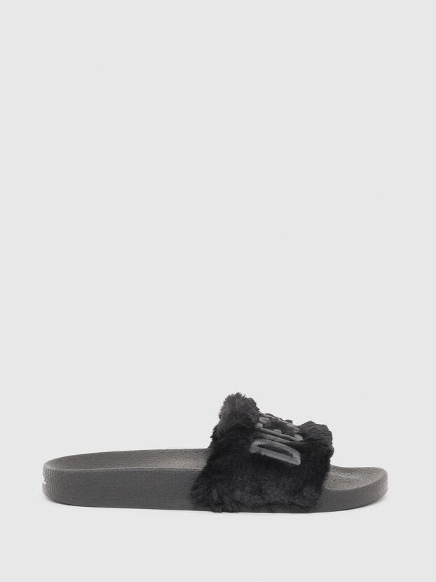 SA-VALLA R W, Black - Slippers