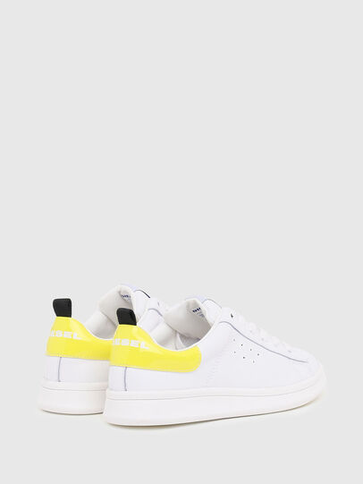 Diesel - SN LOW LACE 11 FULL, White/Yellow - Footwear - Image 3