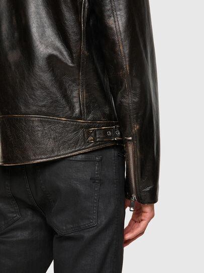 Diesel - L-GARRETT-NEW, Black - Leather jackets - Image 4