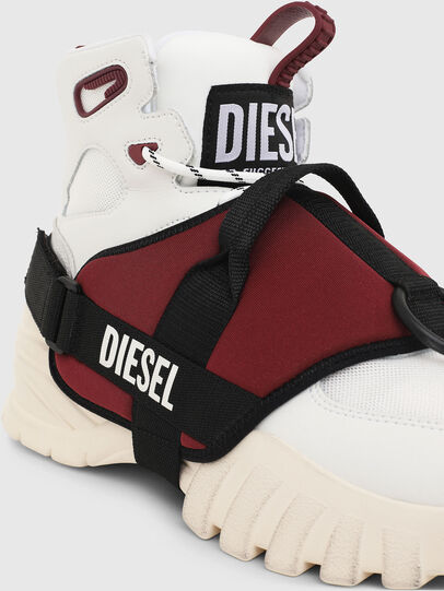 Diesel - S-SHARQUEZ MID, White/Red - Sneakers - Image 5