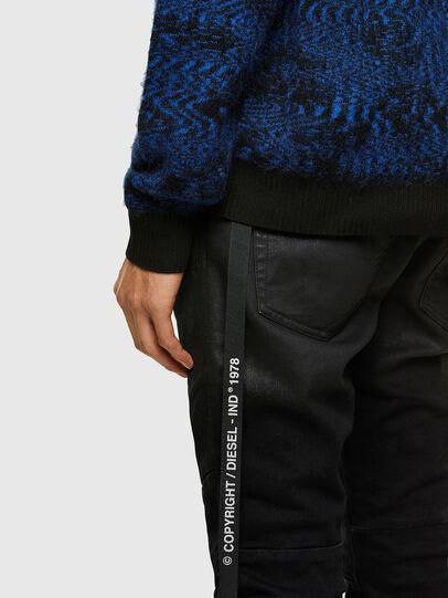 Diesel - K-AZOTIC, Black/Blue - Knitwear - Image 4