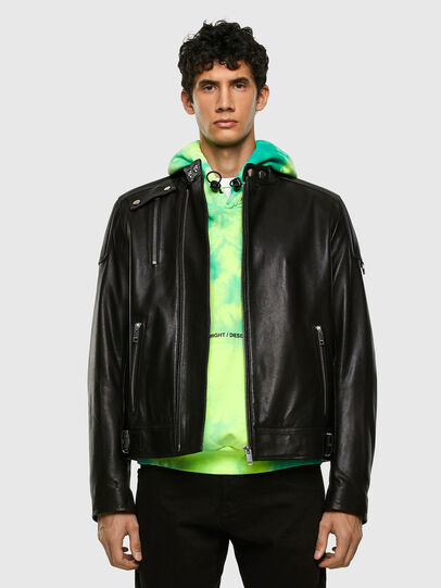 Diesel - L-CODY, Black - Leather jackets - Image 6
