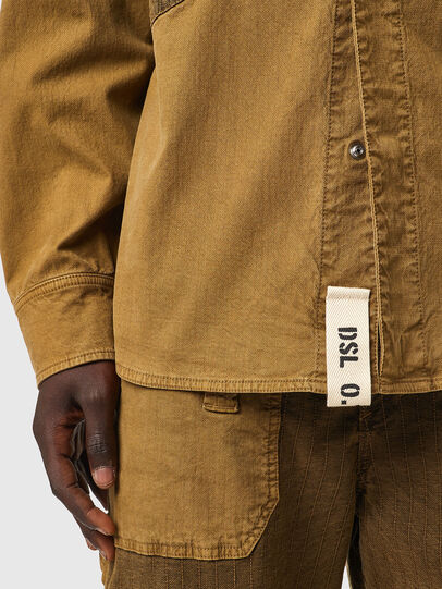 Diesel - D-CORUS-SP3 JOGGJEANS, Brown - Denim Shirts - Image 4
