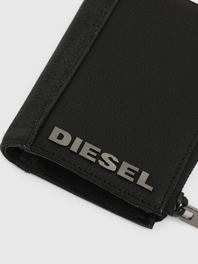 Diesel - L-12 ZIP, Black - Zip-Round Wallets - Image 5